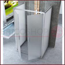 Box Doccia 3 Lati Opaco 6 mm Anta Battente Saloon 60 70 80 90 100 120 130 140 cm