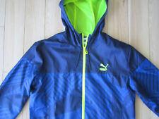 Puma Hooded Jacket Mens M Med zip-up track running hoodie suit neon