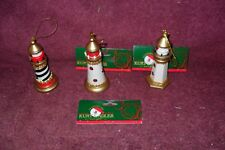 "Set of Three (3) 2003 Issue Lighthouse ""Holiday"" Ornaments"