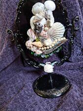 Black Mermaid Inspired Standing Dresser Vanity Mirror/ Mermaid/Beach life/Ocean
