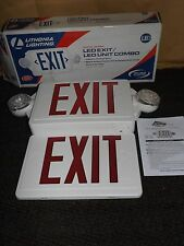 Lithonia Lighting 186hu9 19 Wide Led Exit Sign White Red Letters New In Box