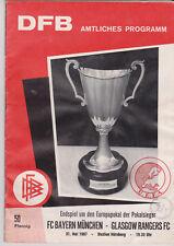 Programme FC Bayern Munchen v Glasgow Rangers FC 31-05-1967 UEFA CWC FINAL