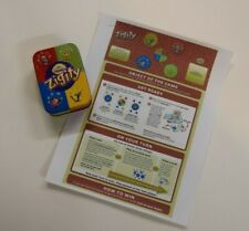 Cranium Zigity Ziggity Card Game w/ Metal Tin Case. Includes instructions.