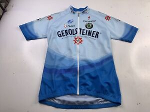 Vtg Nalini Gerolsteiner Mens Cycling Shirt Jersey Race Sport Italy 4 US Large