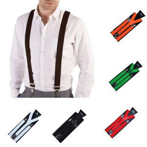 Fashion Men Women Clip-on Suspenders Elastic Y-Shape Adjustable Braces Solid