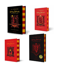 NEW Harry Potter Gryffindor Edition 4 Hardcover Books Set - Philosopher, Chamber