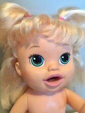 2014 Hasbro Baby Alive Snackin Sara Blonde Hair Bilingual Tested & Working