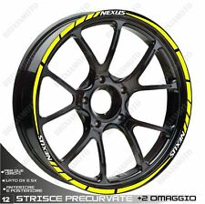 ADHESIVE PROFILES WHEELS RIM STICKERS GILERA NEXUS 500 300 WHITE YELLOW