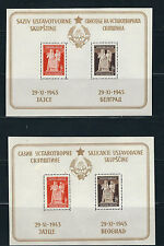 YUGOSLAVIA 1945 Constitution for democratic fed (2 souvenir shts) MH read desc