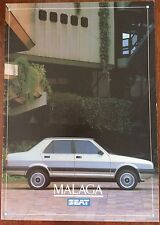 SEAT MALAGA 1986 RANGE CAR BROCHURE. L GL GLX 4 DOOR SALOON 1.5 1.2