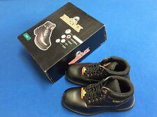 Brahma occupational boots, steel toe, oil & slip resistant, padded collar, black