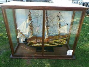 Cased  Model HMS Victory