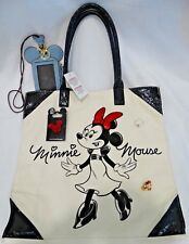 Disney's Minnie Mouse Tote Bag, Mickey Mouse Lanyard/Change Purse, Ring + Pins