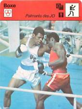 FICHE CARD: JO 1976 Leon Spinks (de face) USA Sixto Soria CUBA BOXE BOXING 1970s