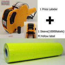 8Digits Price Gun Labeler Mx-5500 + 10000 Yellow Labels +Free Ink