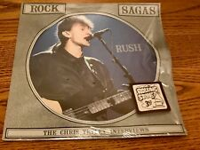 "RUSH ""SAGAS -THE CHRIS TETLEY INTERVIEW"" PICTURE DISC WITH STICKER ~ 1988"