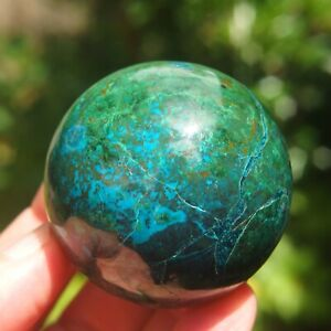 Chrysocolla Polished Sphere from Peru.
