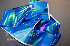 """""""Cold stream"""" blue holographic transfer nail art foil - 1 meter"""