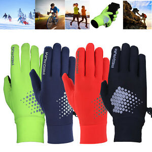 Men Ladies light weight reflective Running Cycling gloves Black Red Blue Hi-viz