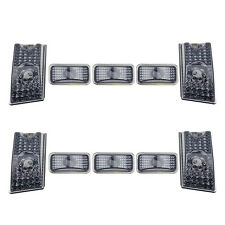 10pc Top Roof Cab Marker Light Cover Lens for 2003-2009 Hummer H2 SUV SUT Smoke
