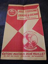 Partition Jolie Tyrolienne Souvenir de Bolzano René Feuillet Music Sheet