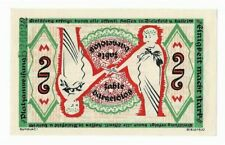 New Listing*1918 Bielefeld Germany- Optical Illusion ~ 2 Mark Unc German Currency Banknote