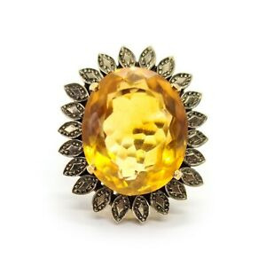 Citrine Cocktail Ring, 14ct Gold