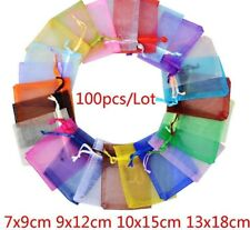 Jewelry Give Away Package Pouches 100 Pieces Organza Fabric Party Supply Storage