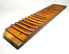 MID-LATE 19TH C ANTIQUE AMERICAN PRIMITIVE MULTI-CIGAR MOLD WOOD FORM, ONE PIECE