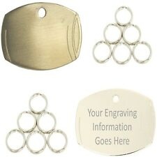 Engraved Pet ID Tags Barrell Shape Dog Disc Disk Puppy Engraved & Post Inc.