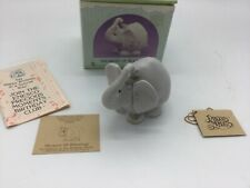 "Enesco Precious Moments #105945 ""Showers Of Blessings� Elephant W/Mouse, Birthda"