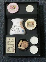 Cat lovers oil burner gift set paw shape melts, tealights,2 x yankee wax melts