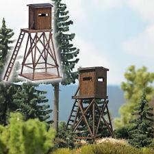 Busch 1496 scala H0, posto Alto in vero legno # NUOVO in scatola originale #