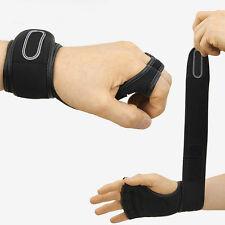 Men Exercise Gaming Training Gloves Weight Lifting Gym Workout Wrist Wrap Strap