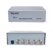 4 Way BNC Splitter CCTV Camera Video Distribution Amplifier Box via Coaxial Cord