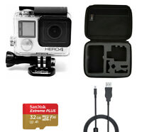 GoPro HERO 4 Silver Edition Camera Camcorder 4 Accessory Kit 32GB Bundle Case