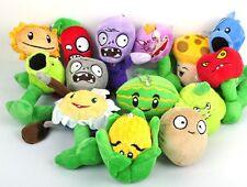 Plants VS Zombies Soft Plush Toy With Sucker A full 1 set 14 pcs Mini Edition