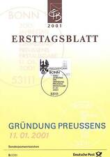 BRD 2001: Königreich Preußen Ersttagsblatt der Nr. 2162! Bonner Stempel! 1A 1608