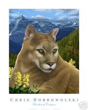 NEW Mountain Lion 18x24 Art Print Poster by Dobrowolski