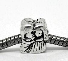 Bride Groom Wedding Couple Lovers Bead for Silver European Style Charm Bracelets