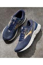 BROOKS Adrenaline GTS 19 Mens Size 10 Running Shoes Navy Blue Gold 1102941D439