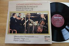 HORSZOWSKI VEGH CASALS Beethoven piano trio LP Philips 77059 Club Ed
