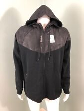 NWT Mens Reebok Black Full Zip Motion 360 Reflectivity Hooded Jacket Sz L Large
