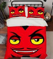 3D Red Monster 798 Bed Pillowcases Quilt Duvet Cover Set Single Queen King CA