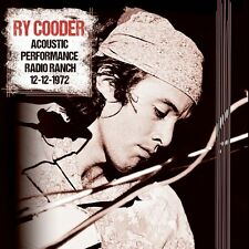Ry Cooder - Acoustic Performance Radio Branch 12th December 1972. New CD. Sealed