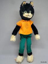 Schuco Tom Cat Mohair Plush Bigo Bello 12in 30cm Label Bendy Doll 1960s Vintage