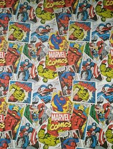 Marvel Comics Single Duvet Cover Character World 130x200cm Spider-Man Ironman