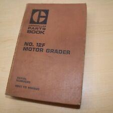 Cat Caterpillar 12f Motor Road Grader Parts Manual Book 89h Series List Spare
