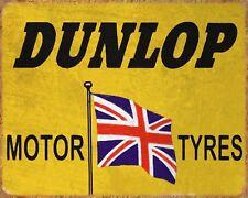 DUNLOP MOTOR TYRES CAR GARAGE MOTORCYCLE WORKSHOP METAL PLAQUE SIGN N474