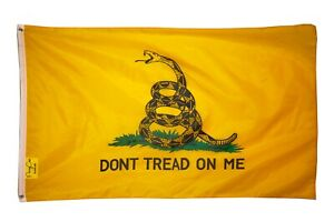 Don't Tread on Me 3x5FT Flag Banner Gadsden Tea Party Patriot Conservative USA